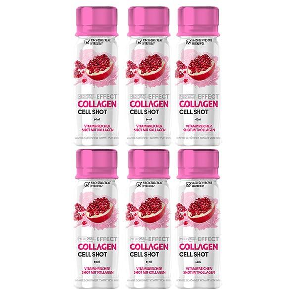 6x MediCap Effect Collagen Cell Shot - Hydrolysiertes Collagen unterstützt die Hautverjüngung