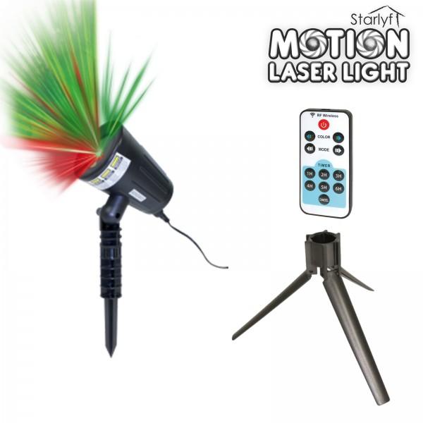 Starlyf Motion Laser Lights rot & grün inkl. Fernbedienung und Stativ